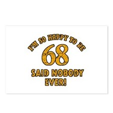 So happy to be 68 Postcards (Package of 8)