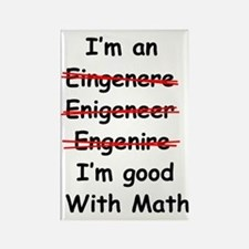 Im good with math Rectangle Magnet