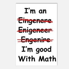 Im good with math Postcards (Package of 8)