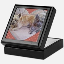 Cairn Terriers Inside Heart Keepsake Box