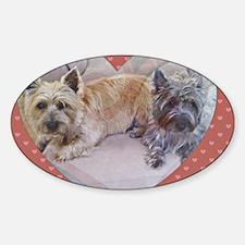 Cairn Terriers Inside Heart Sticker (Oval)