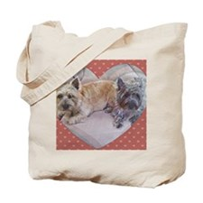 Cairn Terriers Inside Heart Tote Bag