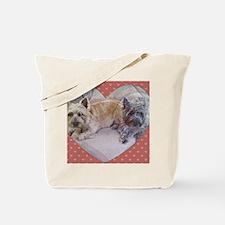 Cairn Terriers Inside Heart Tote Bag