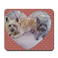 Cairn Terriers Inside Heart Mousepad
