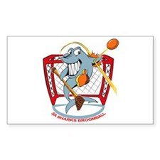 Shark Goalie Rectangle Decal