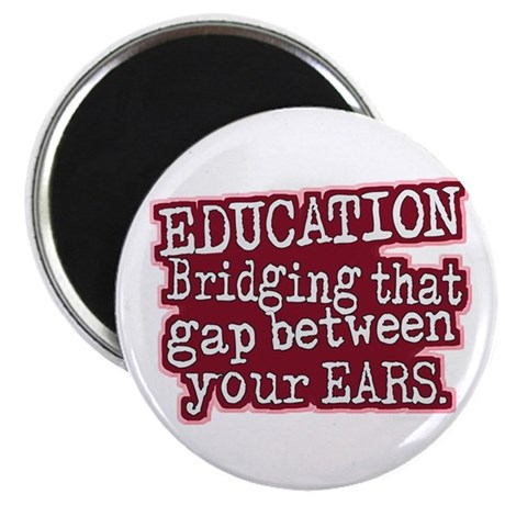 """Education, Bridging That GAP 2.25"""" Magnet (100 pac"""