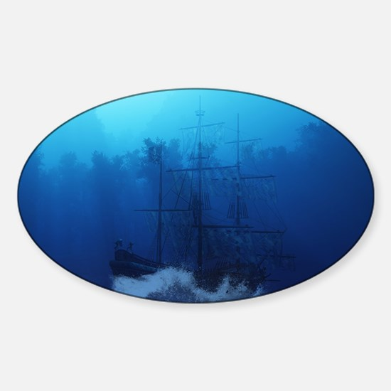 Ghost Ship Sticker (Oval)
