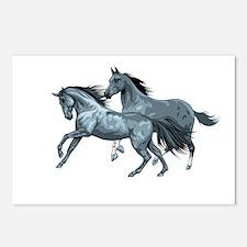 horseA88dark Postcards (Package of 8)