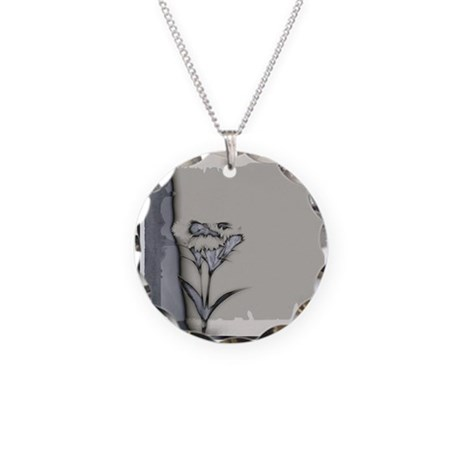 one flower interesting Necklace Circle Charm