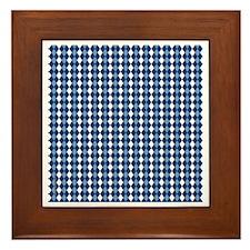 UNC Carolina Blue Basketball Argyle Framed Tile
