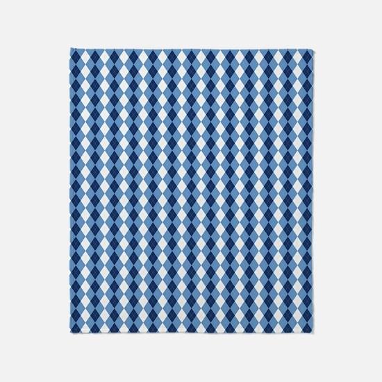 UNC Basketball Argyle Carolina Blue Throw Blanket