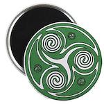 Green Celtic Spiral Magnet