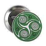 Green Celtic Spiral Button