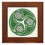 Green Celtic Spiral Framed Tile