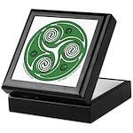 Green Celtic Spiral Keepsake Box