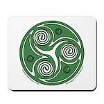 Green Celtic Spiral Mousepad