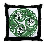 Green Celtic Spiral Throw Pillow