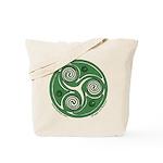 Green Celtic Spiral Tote Bag