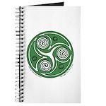 Green Celtic Spiral Journal