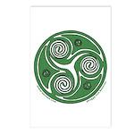 Green Celtic Spiral Postcards (Package of 8)