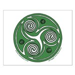 Green Celtic Spiral Small Poster
