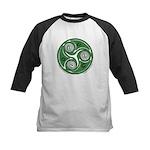 Green Celtic Spiral Kids Baseball Jersey