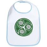 Green Celtic Spiral Bib
