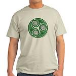 Green Celtic Spiral Light T-Shirt