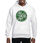 Green Celtic Spiral Hooded Sweatshirt