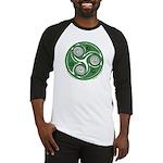 Green Celtic Spiral Baseball Jersey