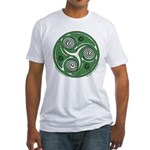 Green Celtic Spiral Fitted T-Shirt
