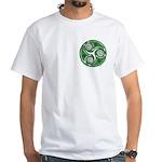 Green Celtic Spiral White T-Shirt
