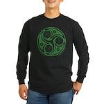 Green Celtic Spiral Long Sleeve T-Shirt - Blk/Blu