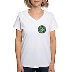 Green Celtic Spiral Mini Women's V-Neck T-Shirt