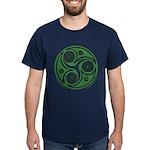 Green Celtic Spiral T-Shirt Dark Colors
