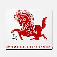horseA84dark Mousepad