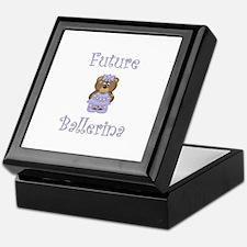 Future Ballerina (purple bear) Keepsake Box