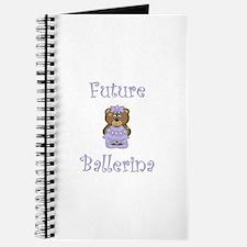 Future Ballerina (purple bear) Journal