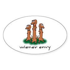 Wiener Envy Oval Decal