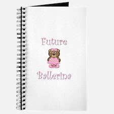 Future Ballerina (pink bear) Journal