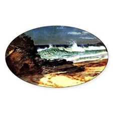 Beach at Nassau - Albert Bierstadt  Decal