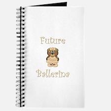 Future Ballerina (peach bear) Journal