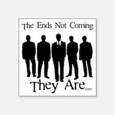 "Men In Black Square Sticker 3"" x 3"""