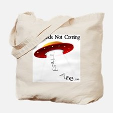 Red Saucer Beaming Up Tote Bag