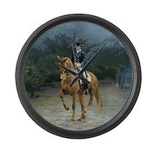 PB Piaffe Dressage Horse Large Wall Clock