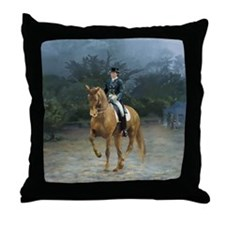 PB Piaffe Dressage Horse Throw Pillow