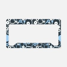 Funky Circles License Plate Holder