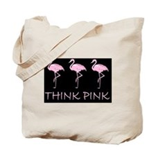 Breast cancer flamingo d Tote Bag