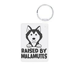 Raised by Malamutes Keychains