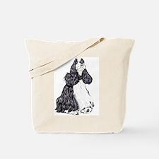 Cocker Spaniel BW Parti Tote Bag